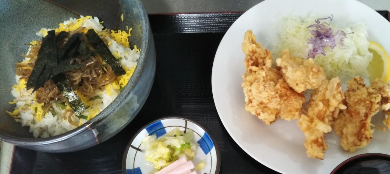 ジャコ丼&鶏唐揚げR3